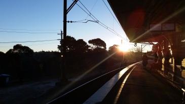 Leura train station at sunset