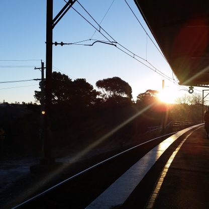 Leura train station at sunset