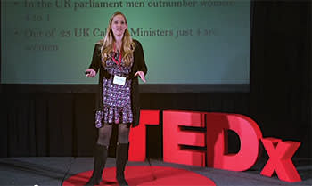 Laura Bates at a TEDx talk in London, December 2013